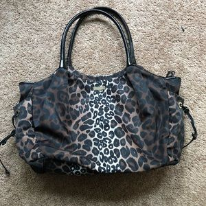Leopard print Kate Spade diaper bag
